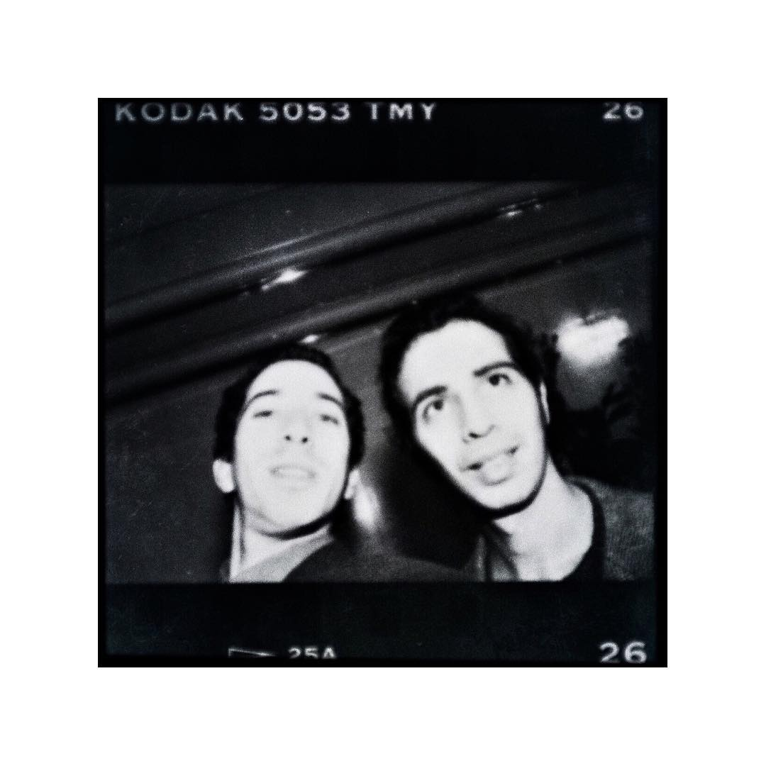 From the archives... This selfie was taken nearly 21 years ago, at my sister's wedding. Did I have auto focus lens back then? Can't remember, but if I did, clearly they didn't do the job... Me (left) with my best friend, Ofir Touché Gafla, now a renowned, best seller author. Check out his books, now published in the US, Europe and even the Far East ✌️