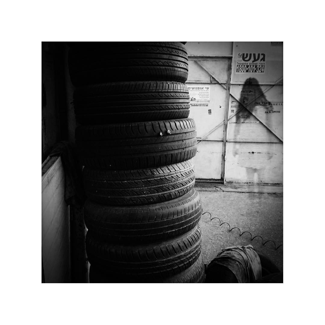 "Had a tyre with a big nail stuck all the way in. It was the end of the day, and the workshop was empty, so I wondered around... A new addition to the ""They're here, amongst us"" series."