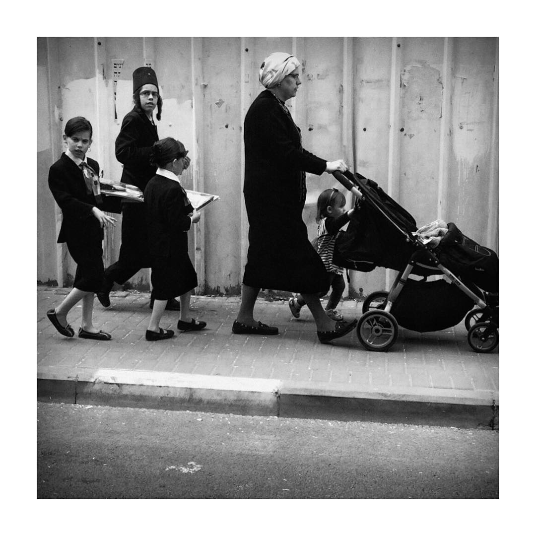 Family parading. From the Jerusalem session.
