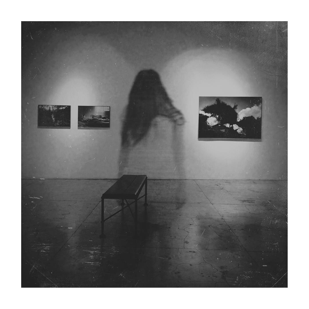 Ghost at an exhibition
