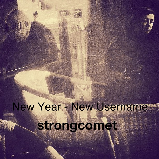 Going back to my Internet name: strongcomet. It sounds like a name an Indian chief would carry, but it's actually my Hebrew name translated to English. I will carry that name across all virtual platforms, if you seek me there...Happy New 2013 ✌