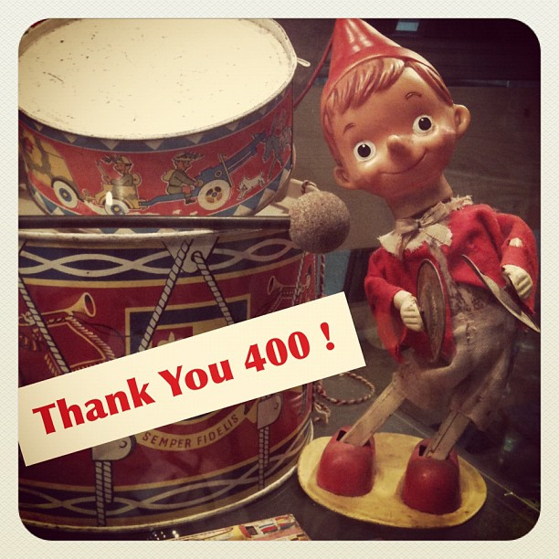 Thank You 400 followers (but who counts  < /> <br style=