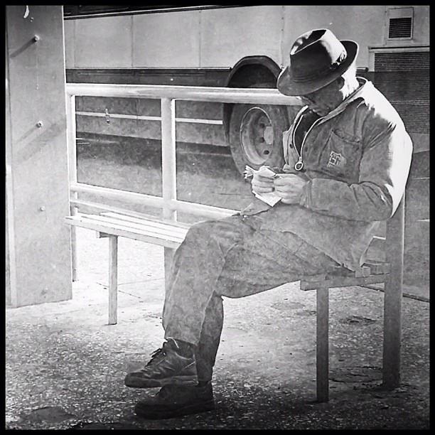 Old man reading (vintage)