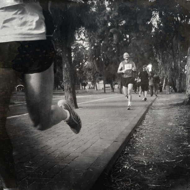 In my youth, I was a very fast runner, trained professionally...Now I only run from trouble...