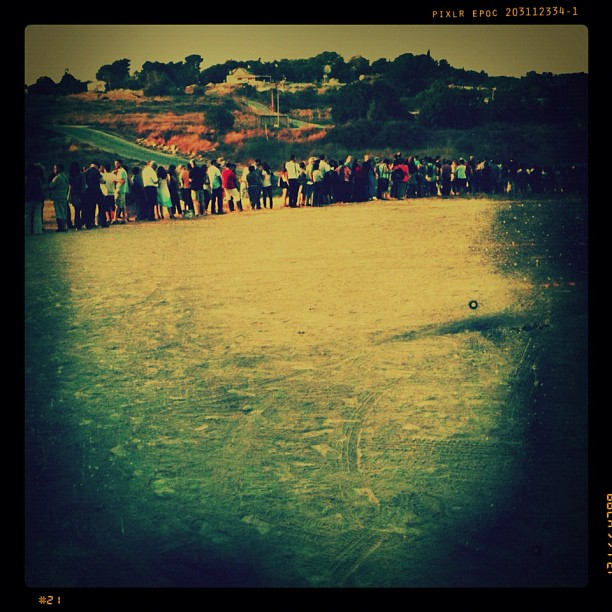 Sea Of Love. Queuing for the Love Festival.