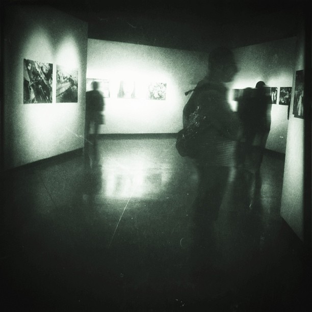 Ghosts at an exhibition