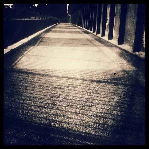 Bridge over still water